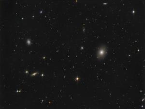 M 49 + NGC 4526 + NGC 4535