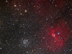M 52 + NGC 7635